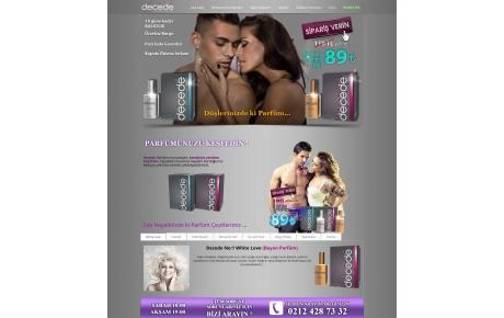 decede-perfume-tek-sayfalik-web-sitesi-tasarimi